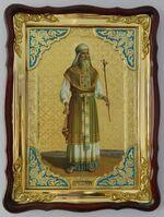 Аарон Праотец, Первосвященник (рост), в фигурном киоте, с багетом. Храмовая икона (60 Х 80)