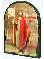 Александр Невский, икона синайская, арка, 17 Х 23