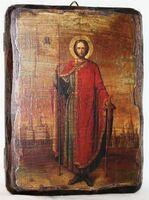 Александр Невский, икона под старину, сургуч (13 Х 17)