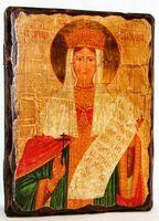 Александра, Св.Мч, икона под старину, сургуч (13 Х 17)