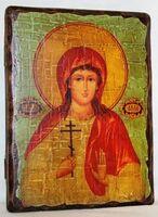 Алла, Св.Мч, икона под старину, сургуч (13 Х 17)