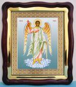 Ангел Хранитель. Большая аналойная икона, фигурный киот (28 Х 32)