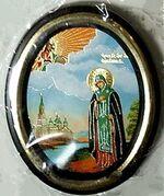 Анна Кашинская. Икона настольная малая, зол. кант, овал. (50 Х 65)