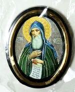 Антоний Печерский. Икона настольная малая, зол. кант, овал. (50 Х 65)