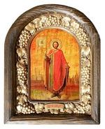 Александр Невский. Икона Иерусалимская арочная