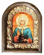 Ксения Петербургская. Икона Иерусалимская арочная