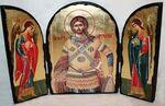 Артемий Св.Мч., с Архангелами, традиционный Афонский складень 35 Х 24 см.