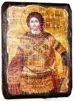 Артемий, икона под старину, сургуч (13 Х 17)