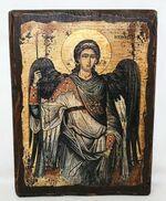Архистратиг Михаил, икона под старину, сургуч (13 Х 17)