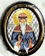 Вадим. Икона настольная малая, зол. кант, овал. (50 Х 65)
