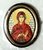 Валерия. Икона настольная малая, зол. кант, овал. (50 Х 65)