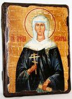 Валерия, Св.Муч, икона под старину, сургуч (13 Х 17)