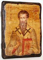 Василий Великий, икона под старину, сургуч (13 Х 17)