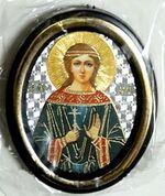 Вера. Икона настольная малая, зол. кант, овал. (50 Х 65)