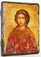 Вероника, Св.Муч, икона под старину, сургуч (13 Х 17)