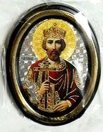 Владимир. Икона настольная малая, зол. кант, овал. (50 Х 65)