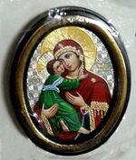 Владимирская Б.М. Икона настольная малая, зол. кант, овал. (50 Х 65)