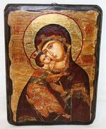 Владимирская Б.М., икона под старину, сургуч (17 Х 23)