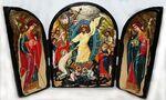 Воскресение Христово, с Архангелами, традиционный Афонский складень 35 Х 24 см.