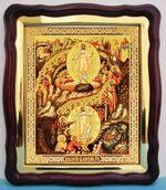 Воскресение Христово (53), в фигурном киоте, с багетом. Большая аналойная икона (28 Х 32)