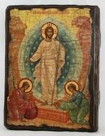Воскресение Христово, икона под старину, сургуч (13 Х 17)