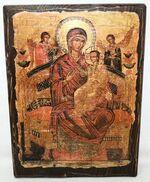 Всецарица Б.М., икона под старину, сургуч (17 Х 23)