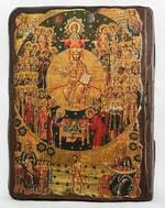 Все Святые, икона под старину, сургуч (13 Х 17)