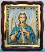 Арх. Гавриил (пояс), в фигурном киоте, с багетом. Большая аналойная икона (28 Х 32)