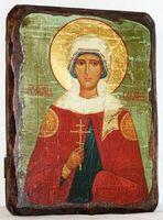 Галина, Св.Мч, икона под старину, сургуч (13 Х 17)