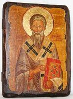 Геннадий, Архиепископ Новгородский, икона под старину, сургуч (13 Х 17)