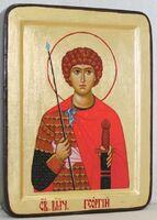 Георгий Победоносец (пояс), икона Греческая, 13 Х 17