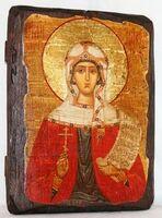 Дарья, Св.Муч, икона под старину, сургуч (13 Х 17)