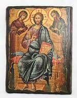 Деисус, икона под старину, сургуч (17 Х 23)