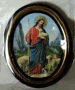 Добрый Пастырь. Икона настольная малая, зол. кант, овал. (50 Х 65)