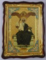 Евангелист Иоанн, в фигурном киоте, с багетом. Храмовая икона (60 Х 80)