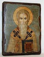 Евгений, Св.Мч, икона под старину, сургуч (13 Х 17)