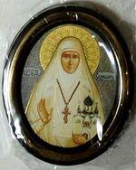 Елизавета. Икона настольная малая, зол. кант, овал. (50 Х 65)