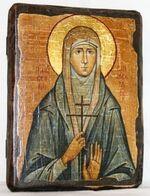 Елизавета, Св.ВлМч, икона под старину, сургуч (13 Х 17)