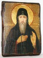 Захарий Печерский,Св.Прп., икона под старину, сургуч (13 Х 17)