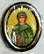 Зинаида. Икона настольная малая, зол. кант, овал. (50 Х 65)