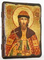 Игорь Черниговский, Св.Вел.Князь, икона под старину, сургуч (13 Х 17)