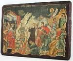 Избиение младенцев, икона под старину, сургуч (17 Х 23)