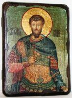 Иоанн воин, икона под старину, сургуч (13 Х 17)