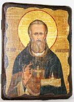 Иоанн Кронштадтский, икона под старину, сургуч (13 Х 17)