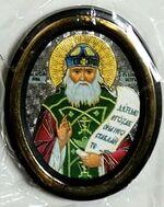 Иона Киевский. Икона настольная малая, зол. кант, овал. (50 Х 65)