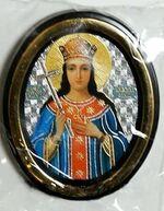 Иулиана. Икона настольная малая, зол. кант, овал. (50 Х 65)