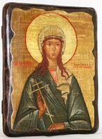Иулия Анкирская, Св.Мч, икона под старину, сургуч (13 Х 17)