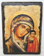 Казанская Б.М., икона под старину, сургуч (17 Х 23)