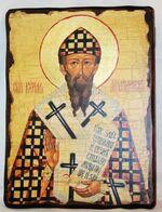 Кирилл Александрийский, икона под старину, сургуч (13 Х 17)
