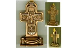 Крест А2, подсвечник литой настольный, 7,8 см.